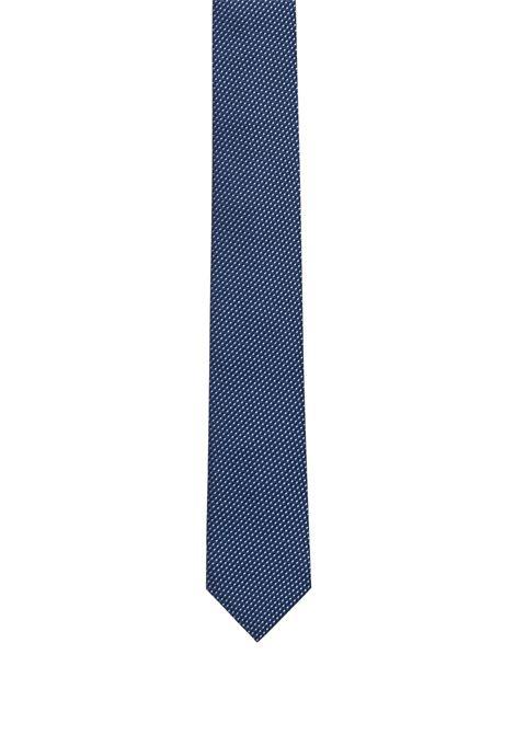 Cravatta in seta con microdisegno jacquard. HUGO BOSS HUGO BOSS | Cravatte | 50324291411