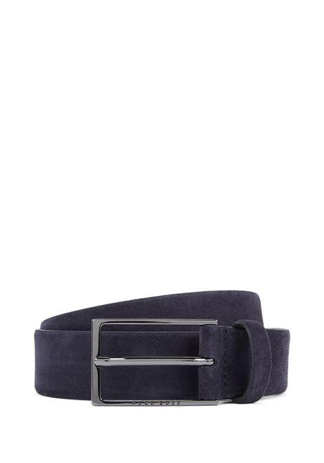 Cintura in pelle scamosciata con fibbia ad ardiglione lucida. Hugo Boss HUGO BOSS | Cinture | 50375225402