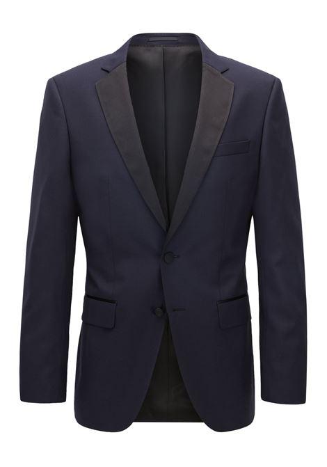 Giacca slim fit in lana vergine con dettagli in seta. Hugo Boss HUGO BOSS | Giacche | 50375810401