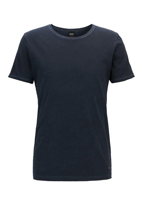 T-shirt regular fit in cotone tinto in capo. Hugo Boss HUGO BOSS | T-shirt | 50378181404