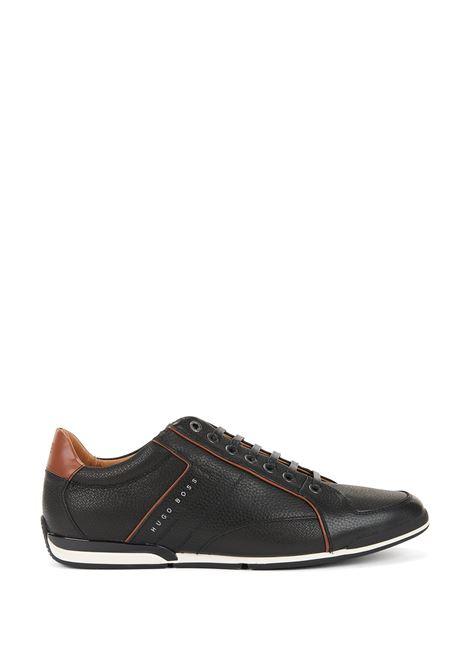 Sneakers in pelle martellata con dettaglio a contrasto. Hugo Boss HUGO BOSS | Scarpe | 50389462001