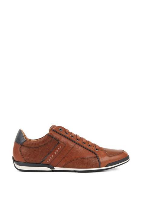 Sneakers in pelle martellata con dettaglio a contrasto. Hugo Boss HUGO BOSS | Scarpe | 50389462210