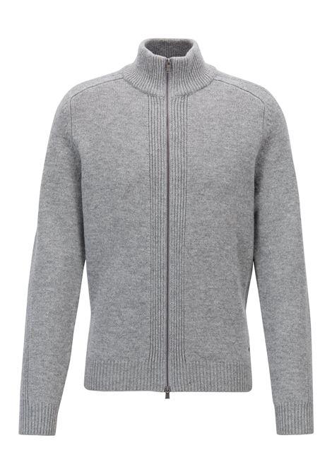 Maglione in lana d'agnello con collo rialzato e zip. Hugo Boss HUGO BOSS | Maglie | 50391611041