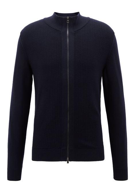 Cardigan regular fit con zip in lana merin. Hugo Boss HUGO BOSS | Maglie | 50392076477