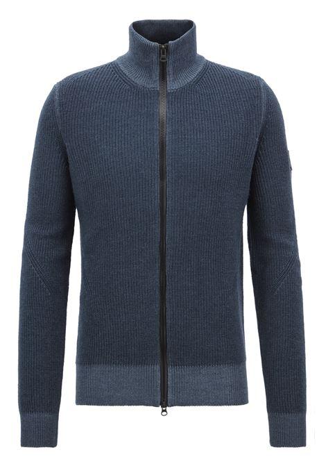 Giacca in maglia lana vergine con zip bidirezionale. Hugo Boss HUGO BOSS | Maglie | 50392622404