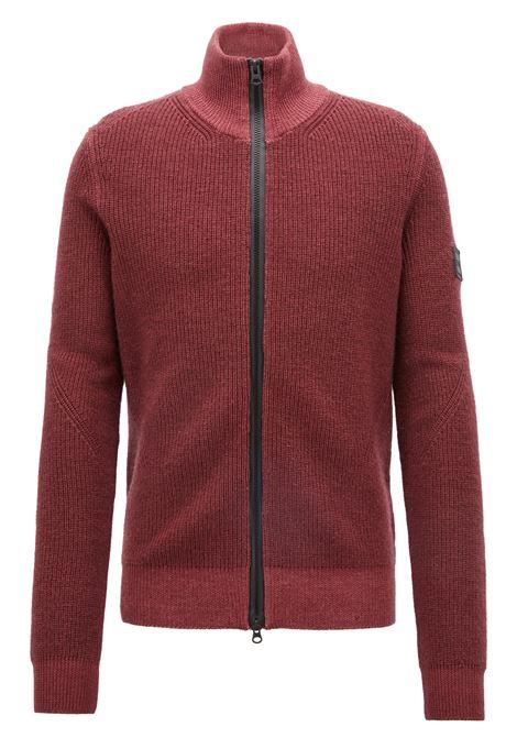 Giacca in maglia lana vergine con zip bidirezionale. Hugo Boss HUGO BOSS | Maglie | 50392622646