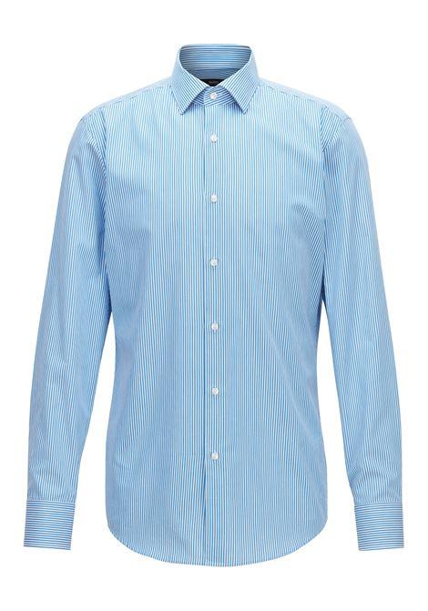 Camicia slim fit in twill di cotone con righe verticali. Hugo Boss HUGO BOSS | Camicie | 50393574432