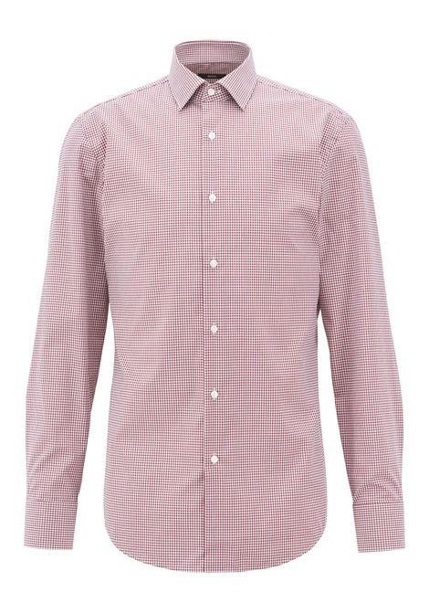 Camicia slim fit a quadri in cotone facile da stirare. Hugo Boss HUGO BOSS   Camicie   50393625603