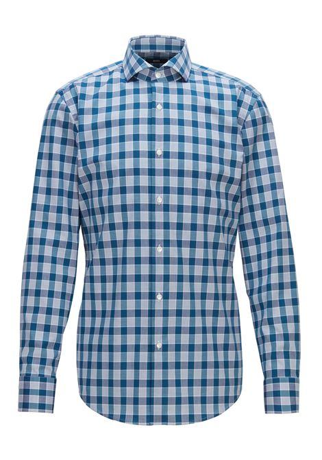 Camicia slim fit facile da stirare in cotone a quadri Vichy. Hugo Boss HUGO BOSS   Camicie   50393660449