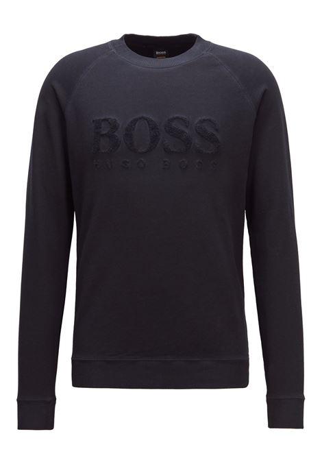 Felpa in french terry con logo ricamato. Hugo Boss HUGO BOSS | Maglie | 50393765404