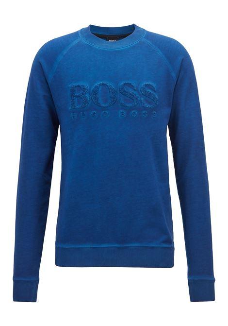 Felpa in french terry con logo ricamato. Hugo Boss HUGO BOSS | Maglie | 50393765481