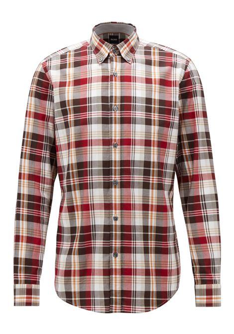 Camicia regular fit in twill di cotone a quadri. Hugo Boss HUGO BOSS   Camicie   50394275601
