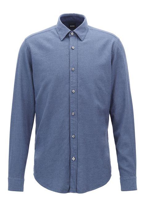 Camicia regular fit in flanella di cotone. Hugo Boss HUGO BOSS   Camicie   50394287480