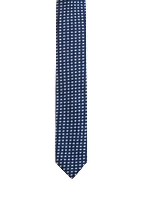 Cravatta in seta jacquard micromotivo a quadri. HUGO BOSS HUGO BOSS | Cravatte | 50395565411