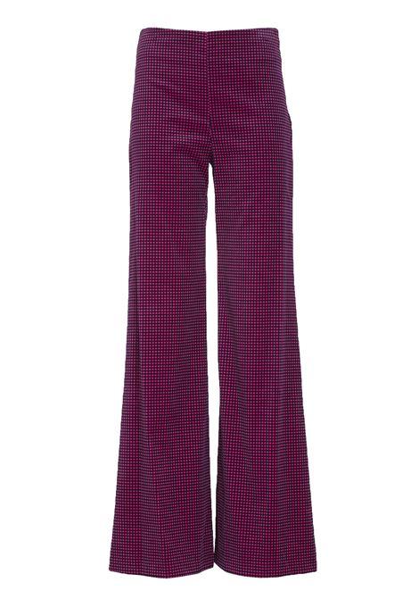 Pantalone Fabiola in velluto vichy. MOMONì MOMONI | Pantaloni | M0PA0090453