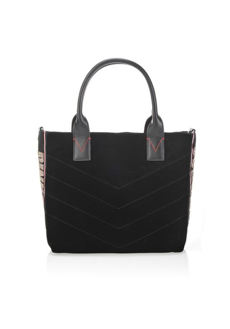 BORSA SHOPPING BAG MEDIUM IN VELLUTO. PINKO BAG PINKO | Borse | 1H20HM-Y4PGZ99