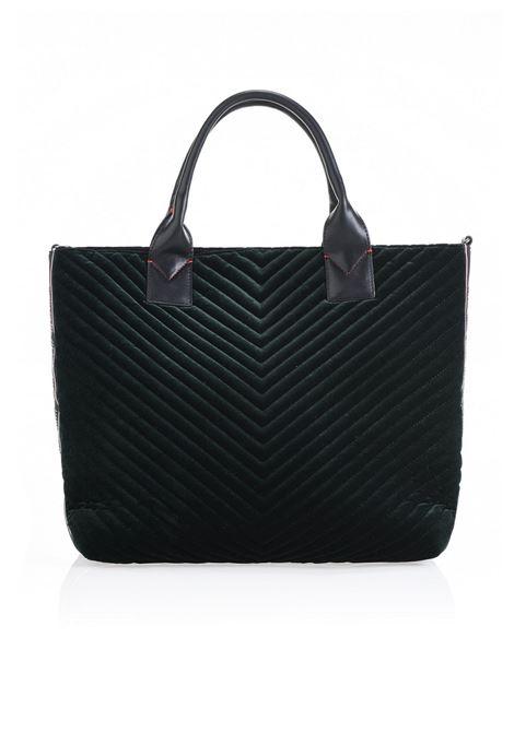 BORSA MAXI SHOPPING BAG IN VELLUTO CHEVRON. PINKO BAG PINKO | Borse | 1H20HN-Y4PWV95