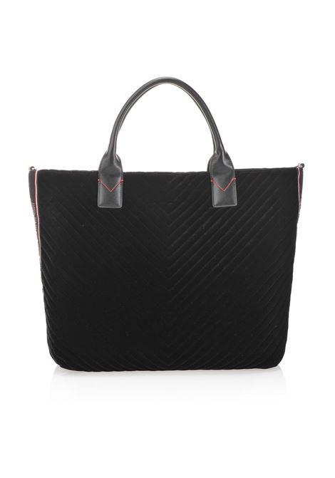 BORSA MAXI SHOPPING BAG IN VELLUTO CHEVRON. PINKO BAG PINKO | Borse | 1H20HN-Y4PWZ99