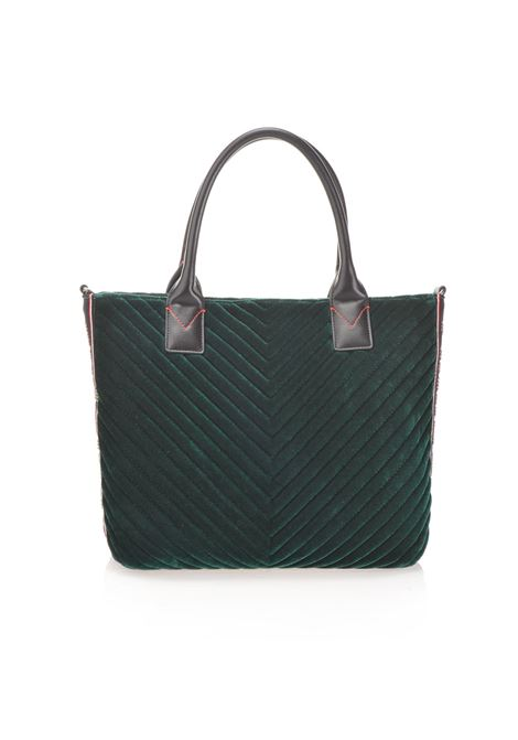 BORSA SHOPPING BAG IN VELLUTO CHEVRON. PINKO BAG PINKO | Borse | 1H20HP-Y4PWV95