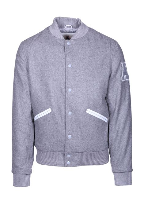 AVIATOR STYLE BOMBER JACKET AMERICAN COLLEGE | Jackets | REF0056GREY