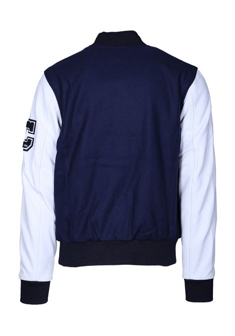 AVIATOR STYLE BOMBER JACKET AMERICAN COLLEGE | Jackets | REF008NAVY
