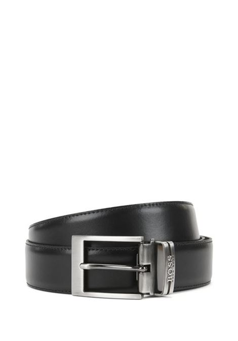 Reversible leather belt with double buckle BOSS | Belt | 50286255002