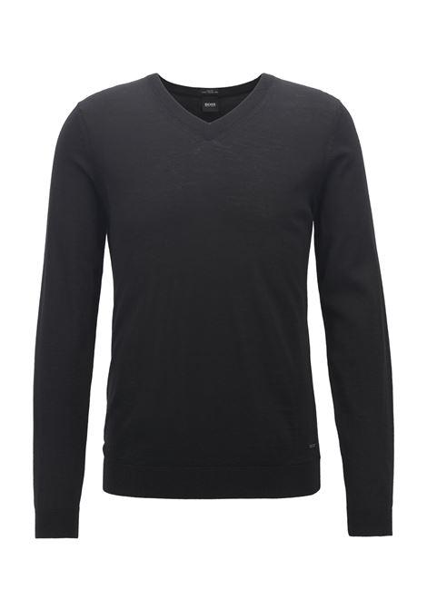 Maglione con scollo a V in lana BOSS | Maglie | 50378576001