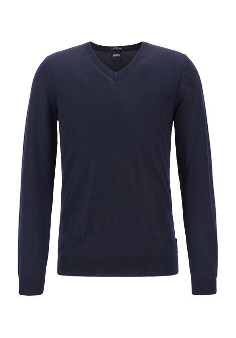 Maglione con scollo a V in lana BOSS | Maglie | 50378576402