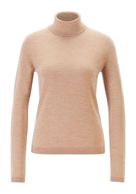 Roll-neck sweater in mercerised Merino wool BOSS | Sweaters | 50379079235