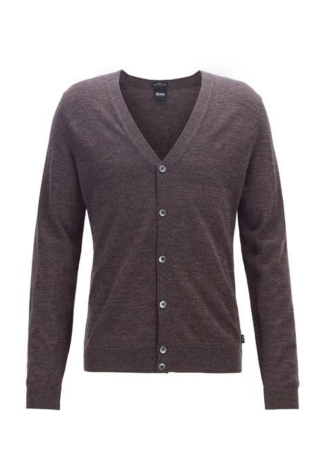 Cardigan con scollo a V in pregiata lana merino realizzata in Italia BOSS | Cardigan | 50392802203