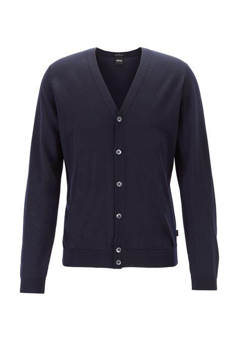 Cardigan con scollo a V in pregiata lana merino realizzata in Italia BOSS | Cardigan | 50392802402