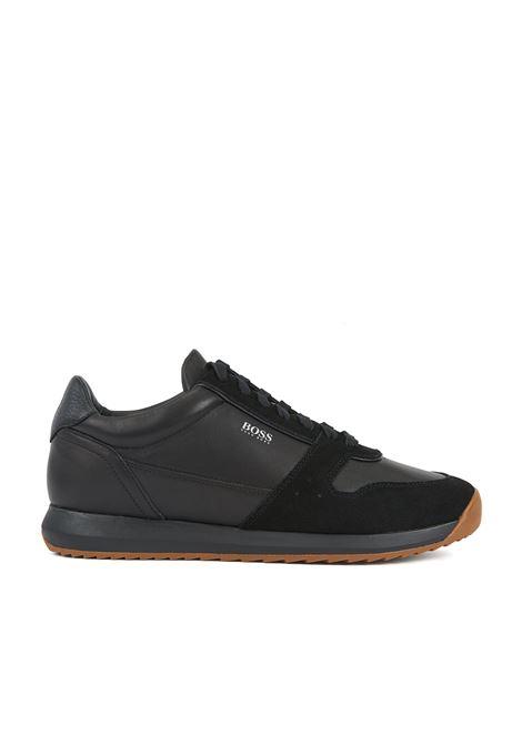 Sneakers stile runner in pelli miste BOSS | Scarpe | 50410978001