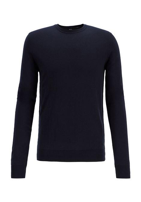 Maglione slim fit in cotone e cashmere BOSS | Maglie | 50411194404