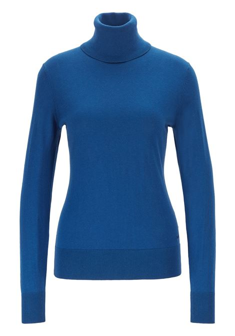 Slim-fit sweater in cotton, silk and cashmere BOSS | Sweaters | 50411623427