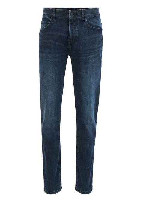 Jeans slim fit in denim super elasticizzato blu scuro BOSS | Jeans | 50414984409