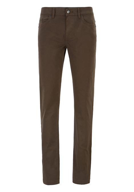 Jeans slim fit in denim elasticizzato satinato con finitura sovratinta BOSS | Jeans | 50415301342