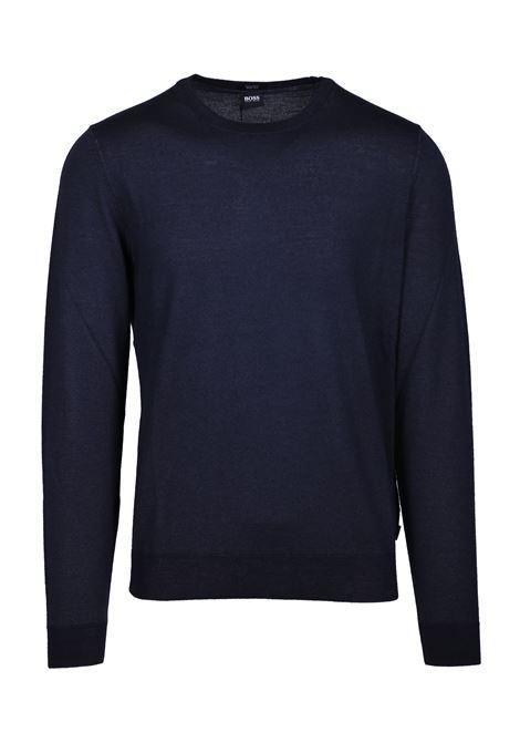 Maglione mélange regular fit in lana vergine e seta BOSS | Maglie | 50415738402