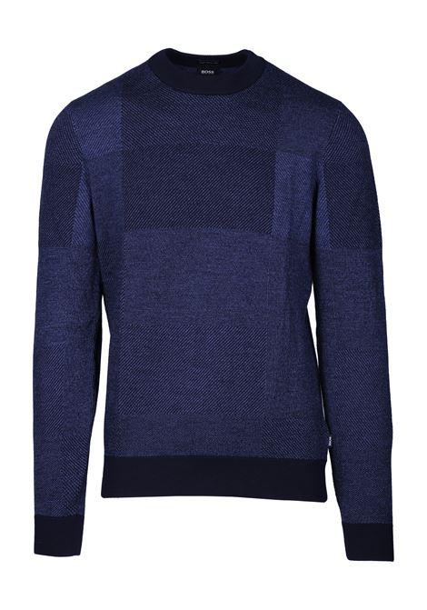 Maglia girocollo in lana con dettagli BOSS | Maglie | 50415793402