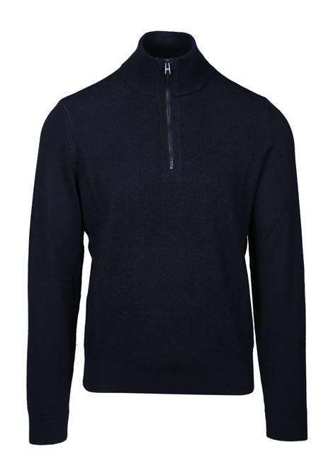 Maglione regular fit in lana vergine con colletto con zip BOSS | Maglie | 50415795001