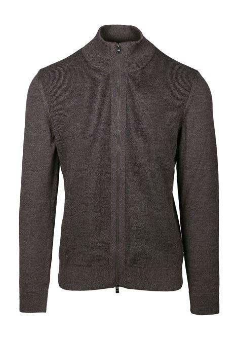 Cardigan regular fit in lana vergine con pannello lavorato BOSS | Maglie | 50415796203