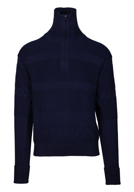 Maglione Troyer con colletto con zip e righe grosse lavorate BOSS | Maglie | 50415862402