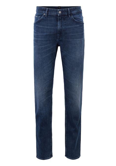 Jeans con fit affusolato in denim elasticizzato indaco italiano BOSS | Jeans | 50415918419