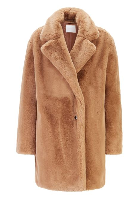 Oversized-fit double-breasted coat in faux fur BOSS | Coat | 50416027235