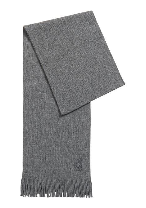 Sciarpa oversize in maglia lavorata in pura lana BOSS | Sciarpe | 50416259030