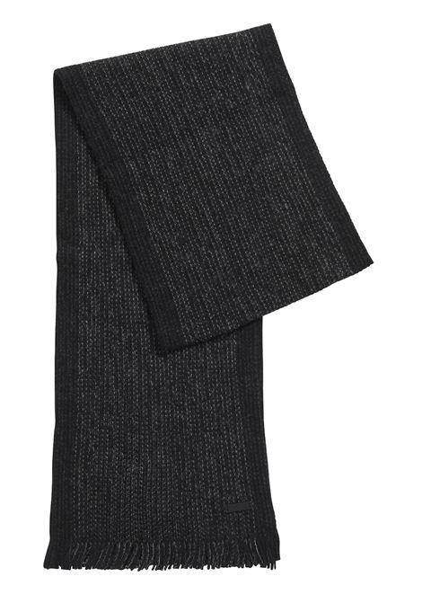 Sciarpa in lana mouliné con riga grossa sul bordo BOSS | Sciarpe | 50416292062