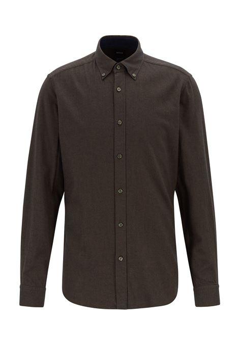 Camicia regular fit in flanella BOSS | Camicie | 50416680342