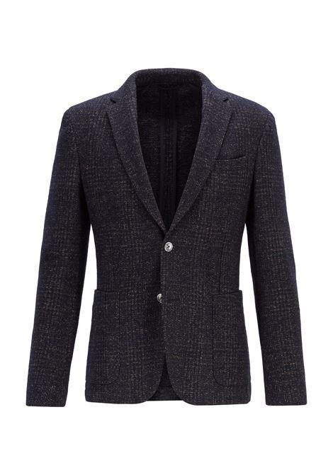 Giacca slim fit a quadri in misto lana BOSS | Giacche | 50417787402