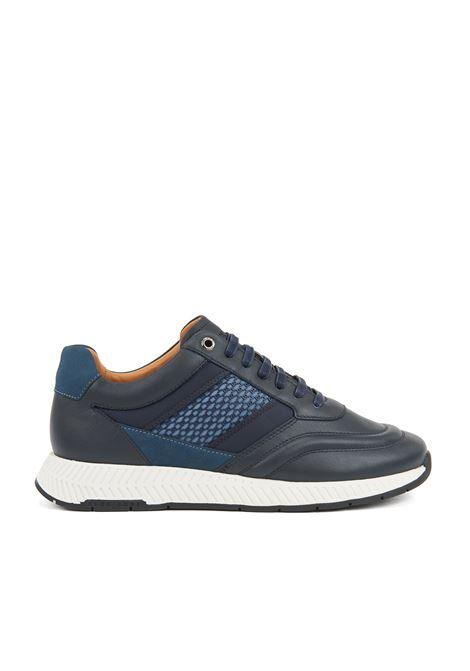 Sneakers in pelli miste con motivo a monogramma stampato BOSS | Scarpe | 50417980401