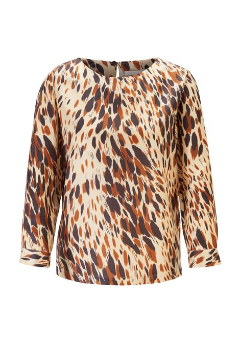 Animal-print top in lustrous Italian twill BOSS | Tops | 50418745980