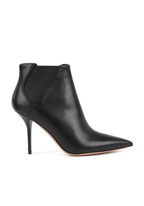 High-heeled ankle boots in leather with elasticated panels BOSS | Shoes | 50419232001